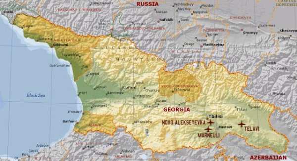 Georgia Launches Military Offensive In South Ossetia Russia - South ossetia map